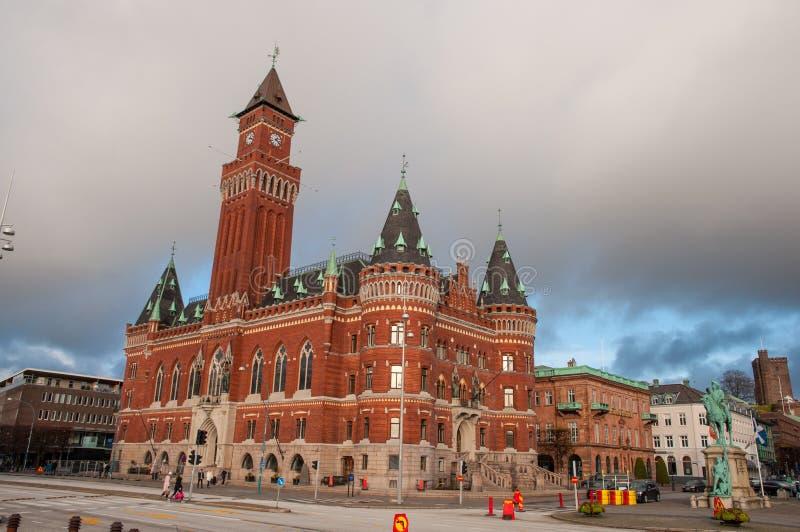 Ayuntamiento de Helsingborg foto de archivo libre de regalías