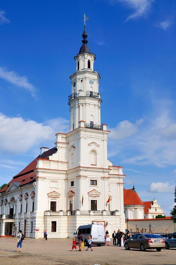 Ayuntamiento de Kaunas, Lituania imagen de archivo