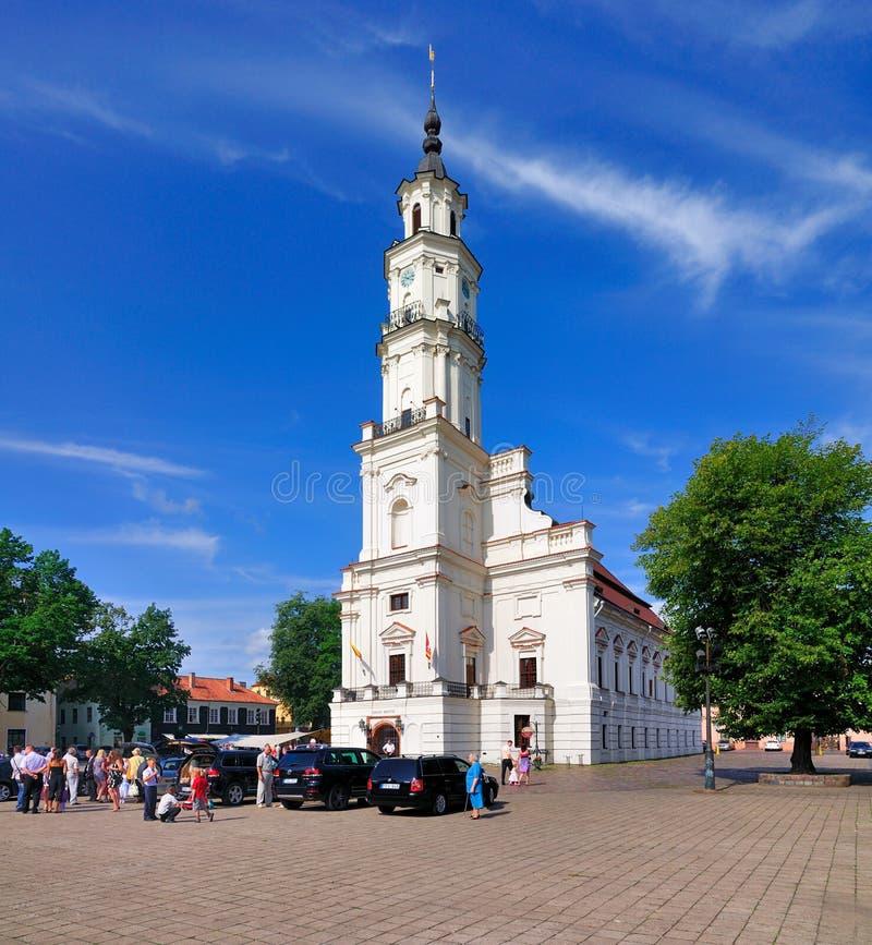 Ayuntamiento de Kaunas, Lituania fotografía de archivo libre de regalías