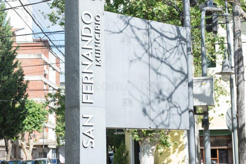 Ayuntamiento de la ciudad de San Fernando en Buenos Aires fotos de archivo