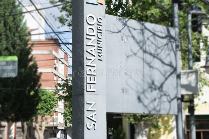 Ayuntamiento de la ciudad de San Fernando en Buenos Aires fotografía de archivo libre de regalías
