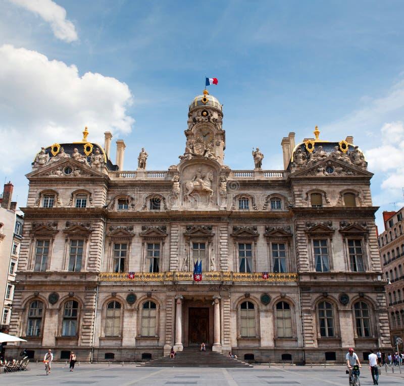 Ayuntamiento de la Lyon (Hotel de Ville) imagen de archivo