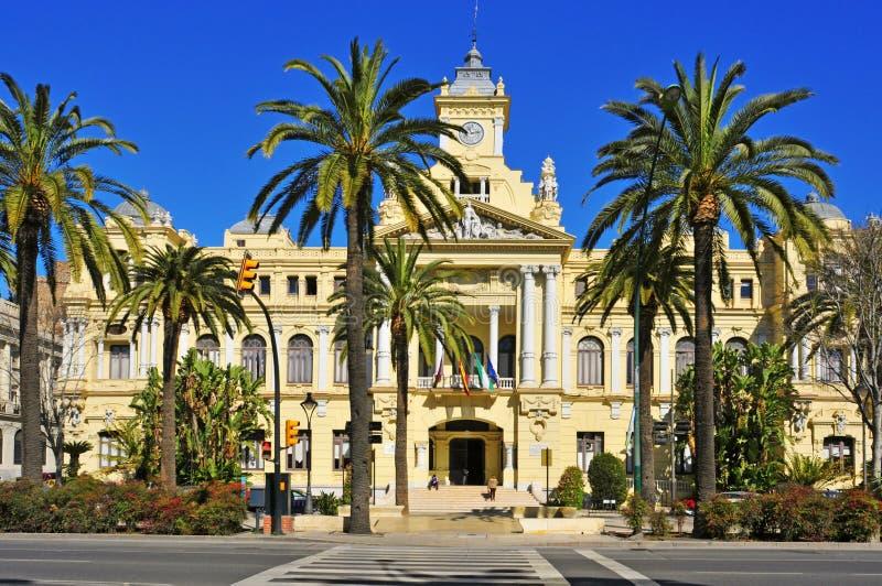 Ayuntamiento de Málaga, España imagenes de archivo