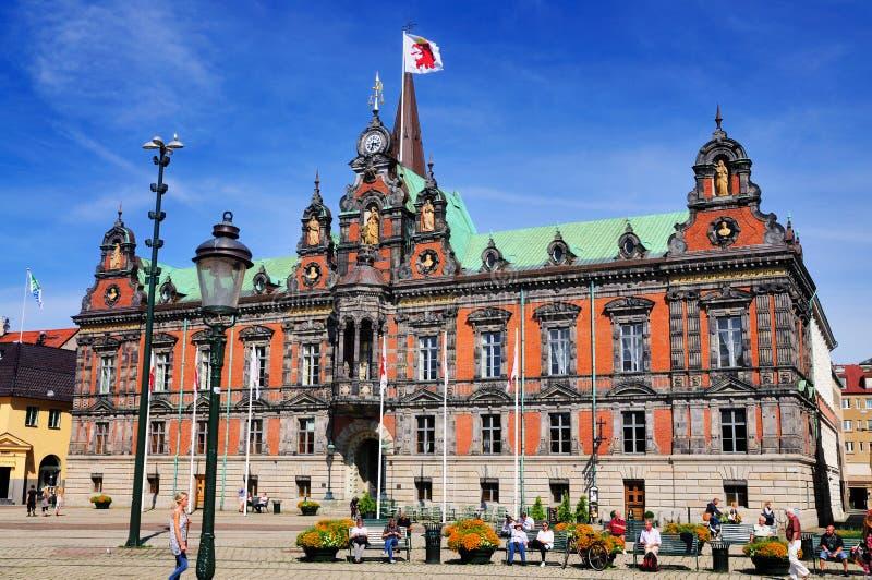 Ayuntamiento de Malmö, Suecia fotos de archivo