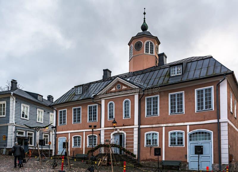 Ayuntamiento de Porvoo, Finlandia fotografía de archivo