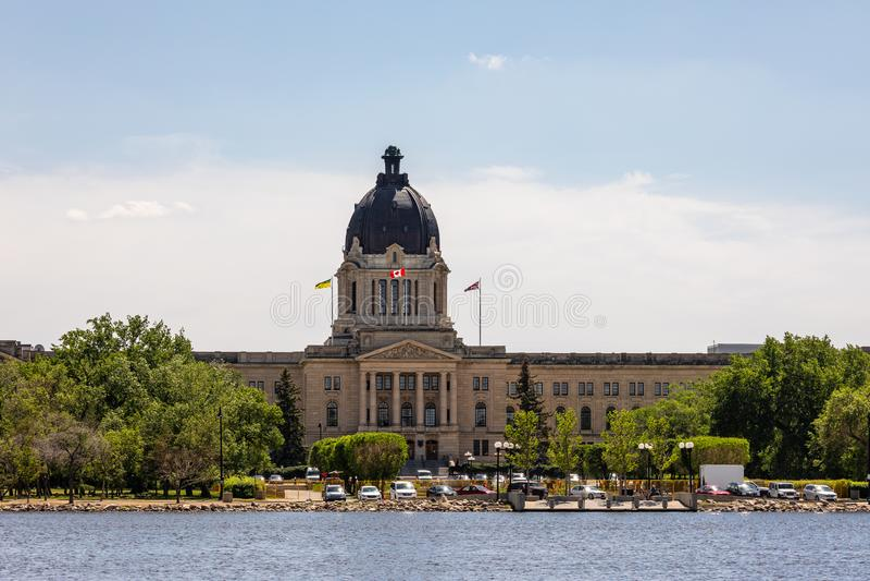 Ayuntamiento de Regina en Canadá foto de archivo
