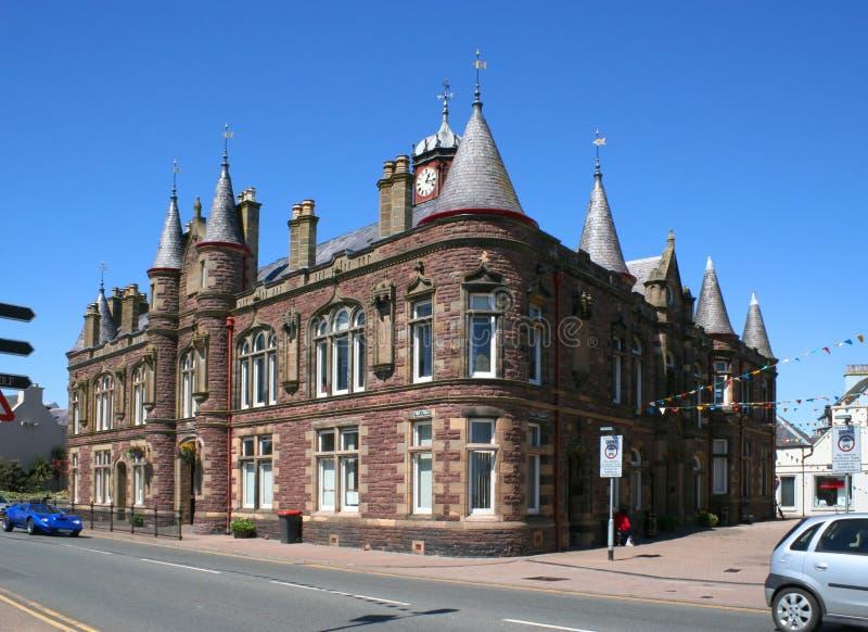 Ayuntamiento de Stornoway fotografía de archivo