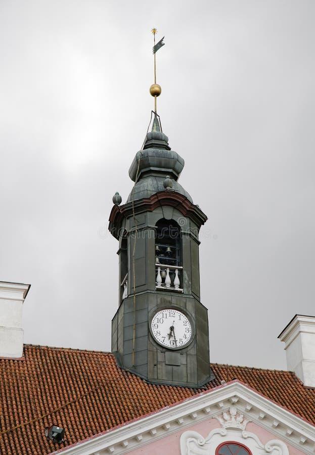 Ayuntamiento de Tartu en el centro histórico, Estonia fotografía de archivo libre de regalías