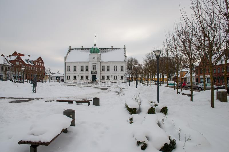 Ayuntamiento de una ciudad danesa imagenes de archivo