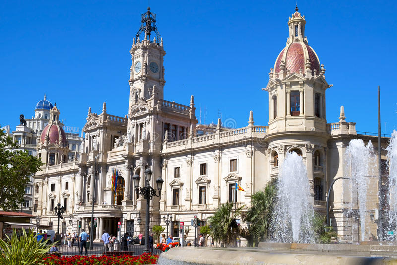 Ayuntamiento de Valencia, España foto de archivo libre de regalías