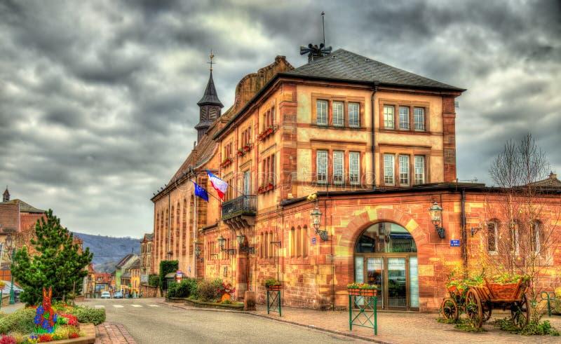 Ayuntamiento de Wasselonne - Bas-Rhin, Francia fotografía de archivo