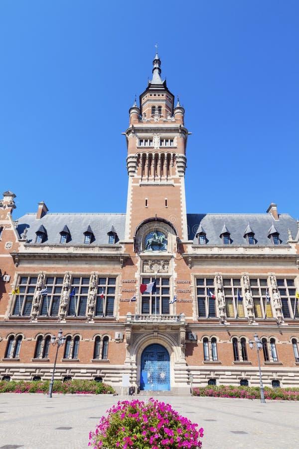 Ayuntamiento Dunkerque imagen de archivo
