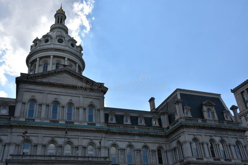 Ayuntamiento en Baltimore, Maryland imagen de archivo