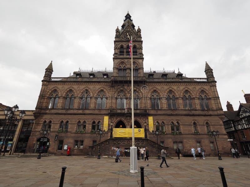 Ayuntamiento en Chester foto de archivo