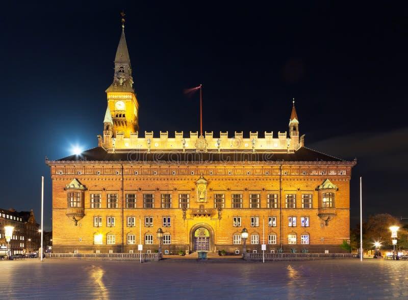 Ayuntamiento en Copenhague, Dinamarca fotos de archivo