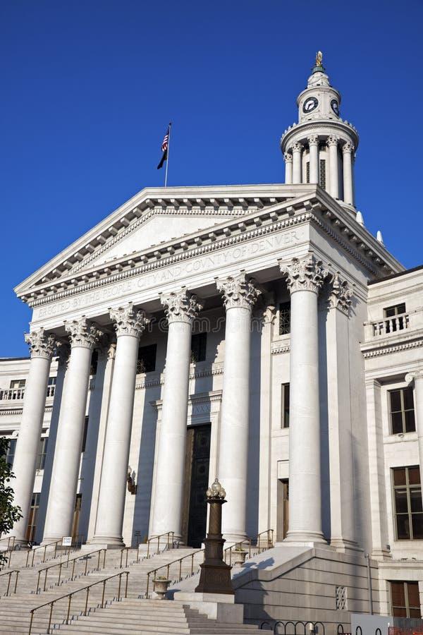 Ayuntamiento en Denver fotos de archivo libres de regalías