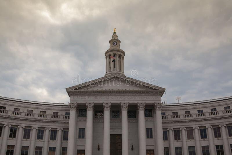 Ayuntamiento en Denver fotografía de archivo