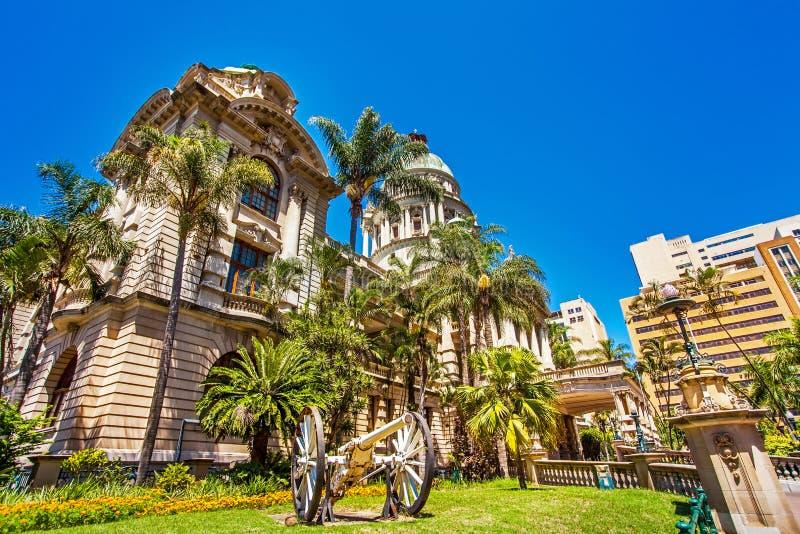 Ayuntamiento en Durban Suráfrica imagen de archivo libre de regalías