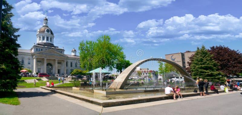 Ayuntamiento en Kingston céntrica, Ontario, Canadá imagen de archivo libre de regalías