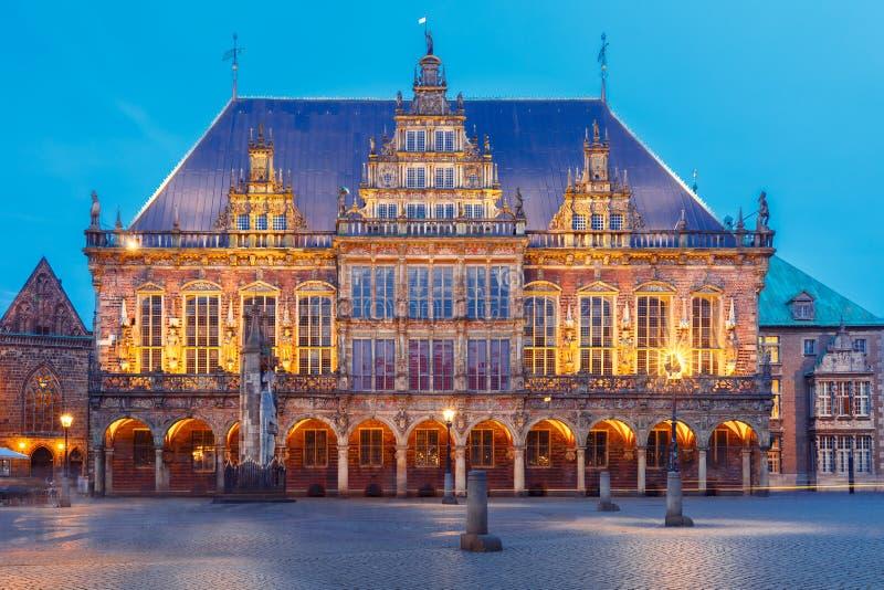 Ayuntamiento en la plaza del mercado en Bremen, Alemania imagenes de archivo