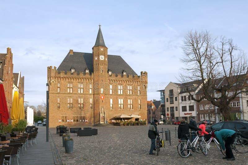 Ayuntamiento en la plaza del mercado, Kalkar, Alemania fotos de archivo libres de regalías