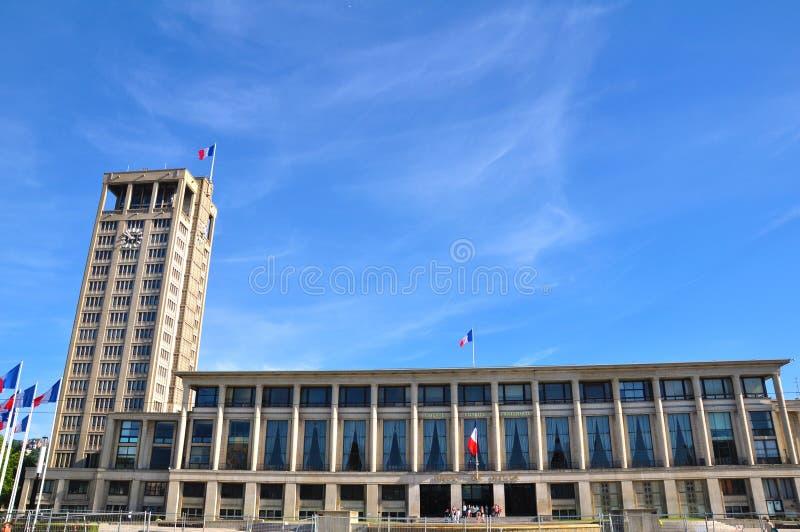 Ayuntamiento en Le Havre, Francia imagen de archivo libre de regalías