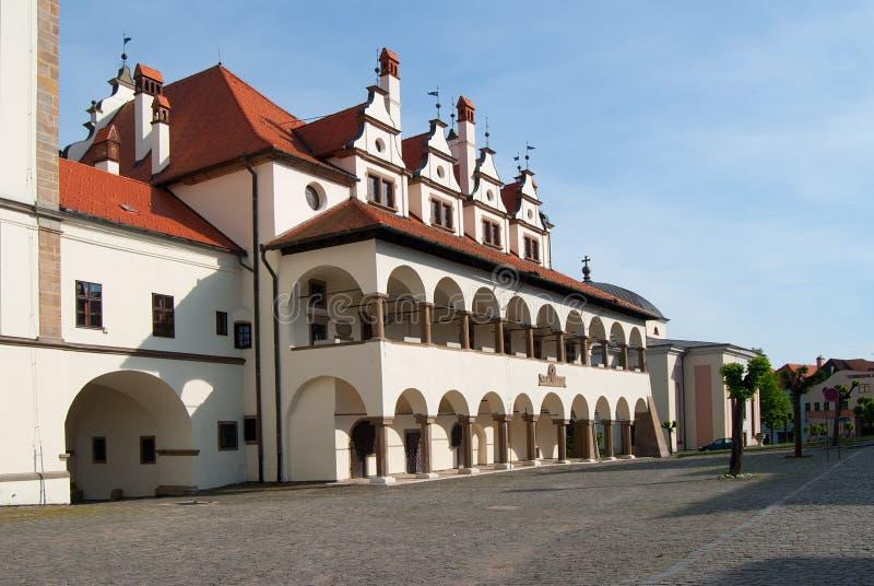 Ayuntamiento en Levoca fotografía de archivo
