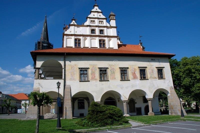 Ayuntamiento en Levoca, Eslovaquia fotografía de archivo