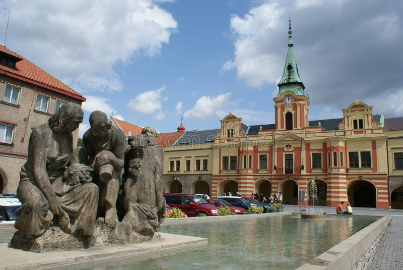 Ayuntamiento en Melnik fotografía de archivo libre de regalías