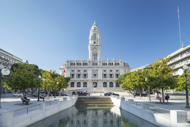 Ayuntamiento en Oporto Portugal fotos de archivo libres de regalías