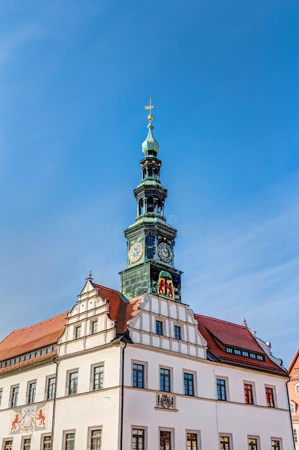 Ayuntamiento en Pirna imagen de archivo libre de regalías