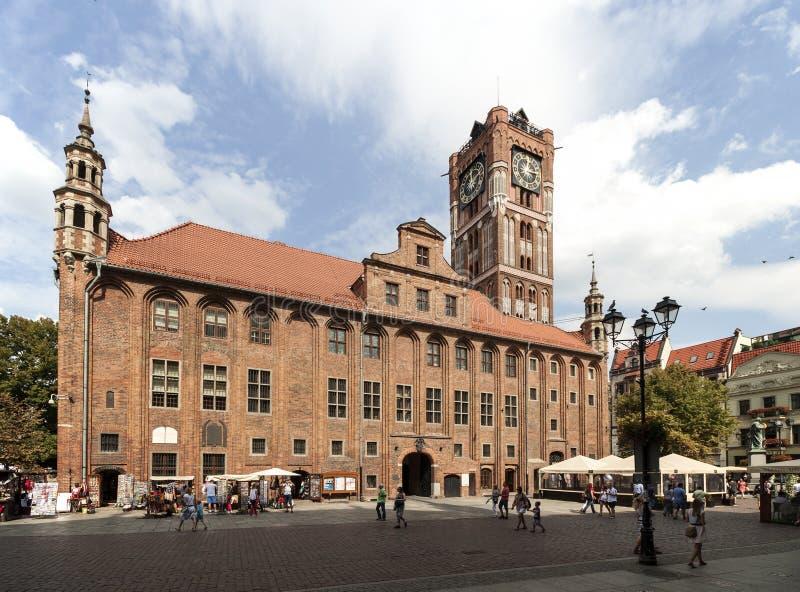 Ayuntamiento en Torun, Polonia fotos de archivo