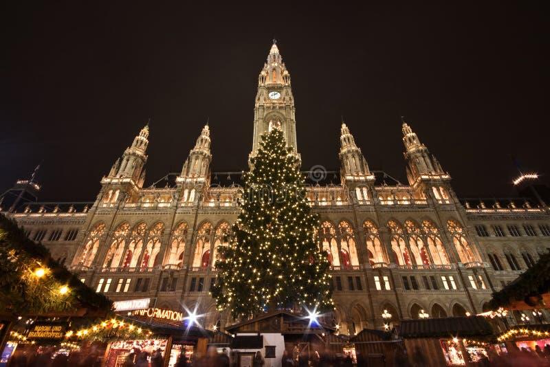 Ayuntamiento en Viena imagen de archivo
