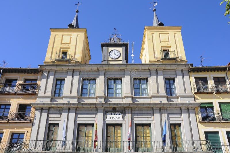 Ayuntamiento, España Segovia imagen de archivo