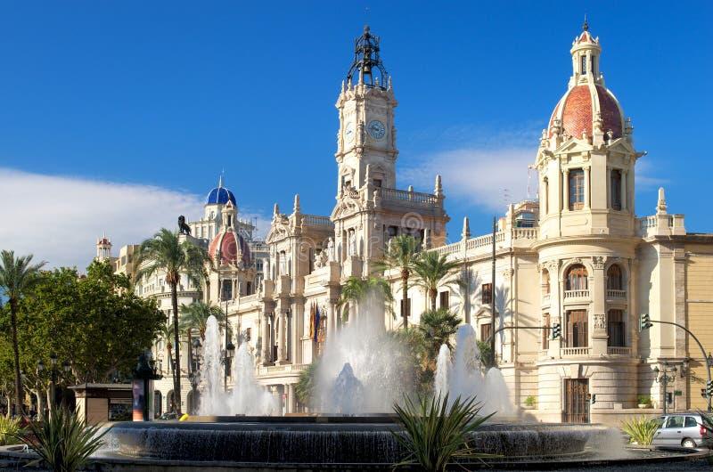 Ayuntamiento, España Valencia. imagen de archivo libre de regalías