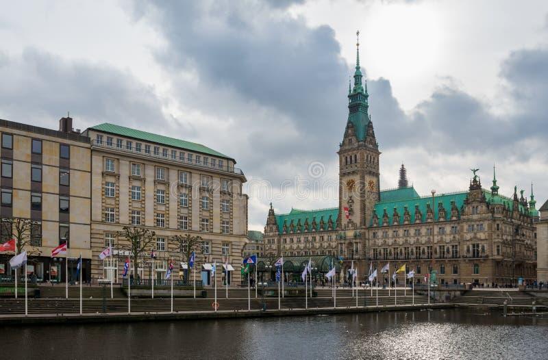 Ayuntamiento Hamburgo Rathaus imagenes de archivo