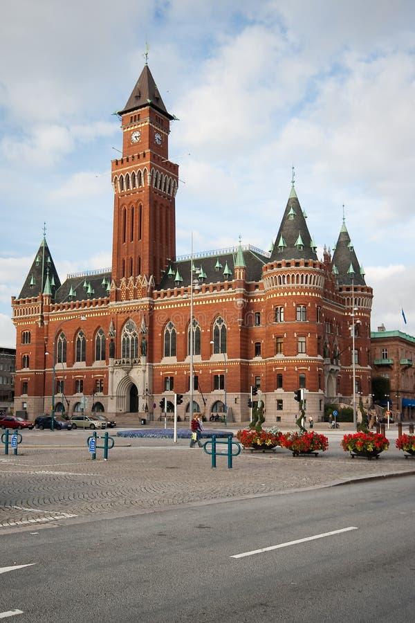 Ayuntamiento Helsinborg. imagen de archivo