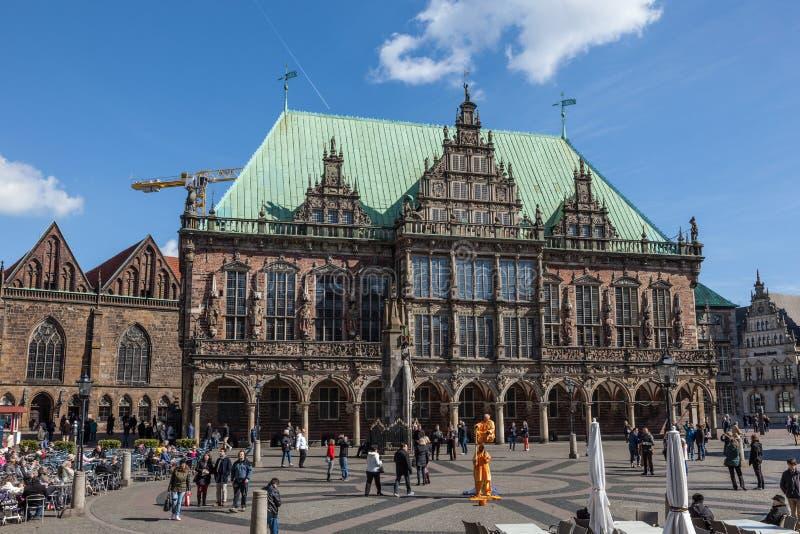 Ayuntamiento histórico en Bremen, Alemania imagenes de archivo