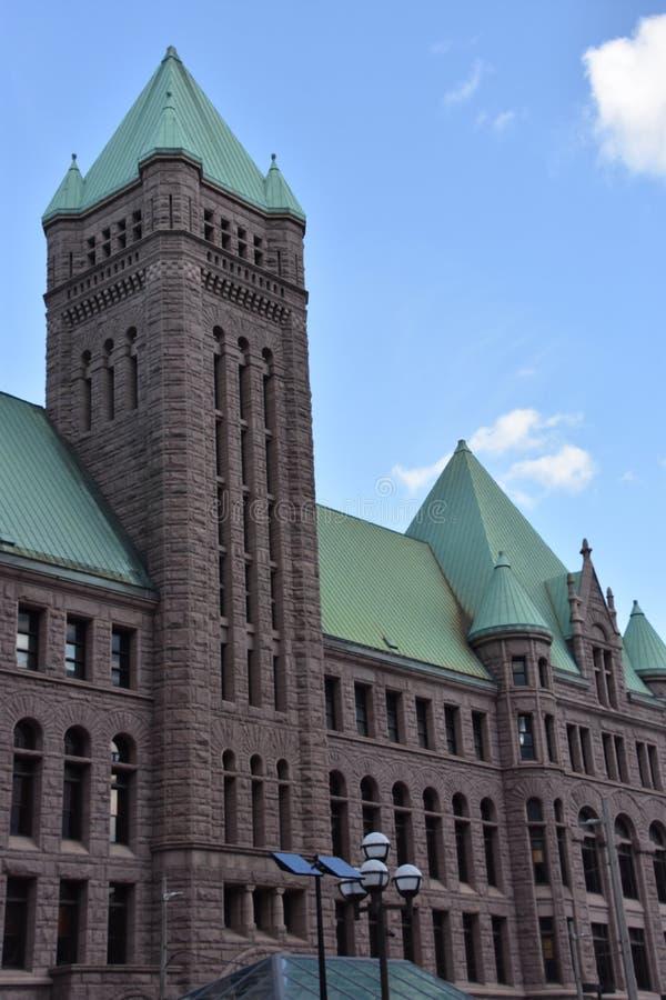 Ayuntamiento histórico en Minneapolis, Minnesota imagen de archivo