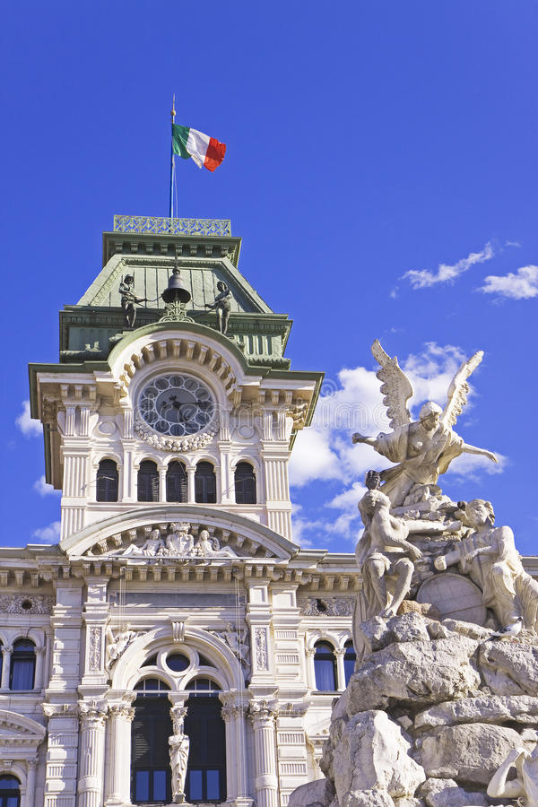 Ayuntamiento (Italia) Trieste foto de archivo