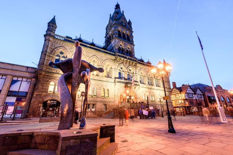 Ayuntamiento la ciudad de Chester fotos de archivo