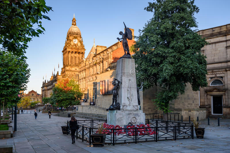 Ayuntamiento Leeds imágenes de archivo libres de regalías