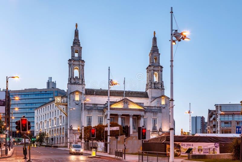 Ayuntamiento, Leeds-Inglaterra fotografía de archivo libre de regalías