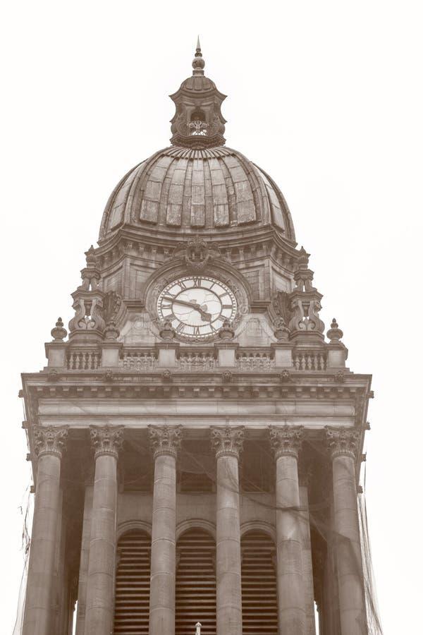 Ayuntamiento; Leeds; Yorkshire foto de archivo