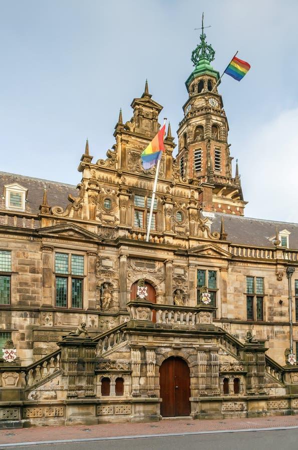 Ayuntamiento, Leiden, Países Bajos Stadhuis imágenes de archivo libres de regalías