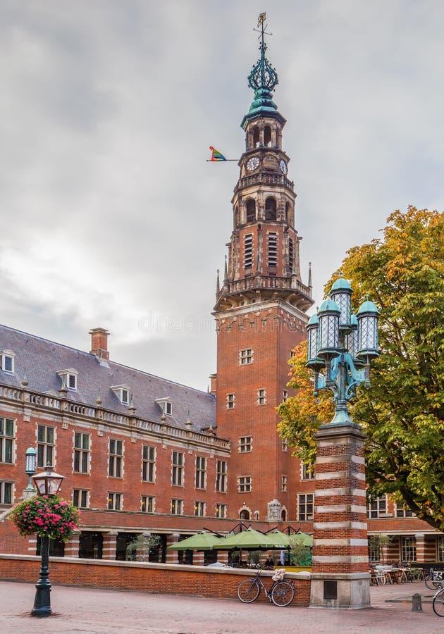 Ayuntamiento, Leiden, Países Bajos Stadhuis imagen de archivo libre de regalías