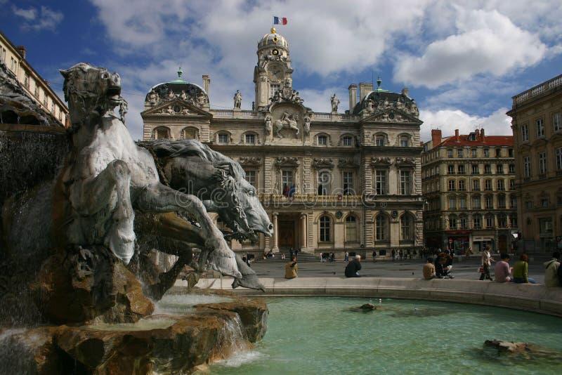 Ayuntamiento Lyon imágenes de archivo libres de regalías