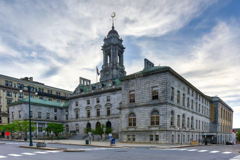 Ayuntamiento - Maine Portland foto de archivo