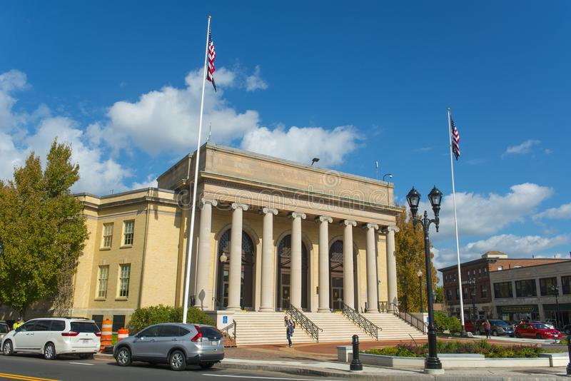 Ayuntamiento, Massachusetts, los E.E.U.U. Framingham imagen de archivo