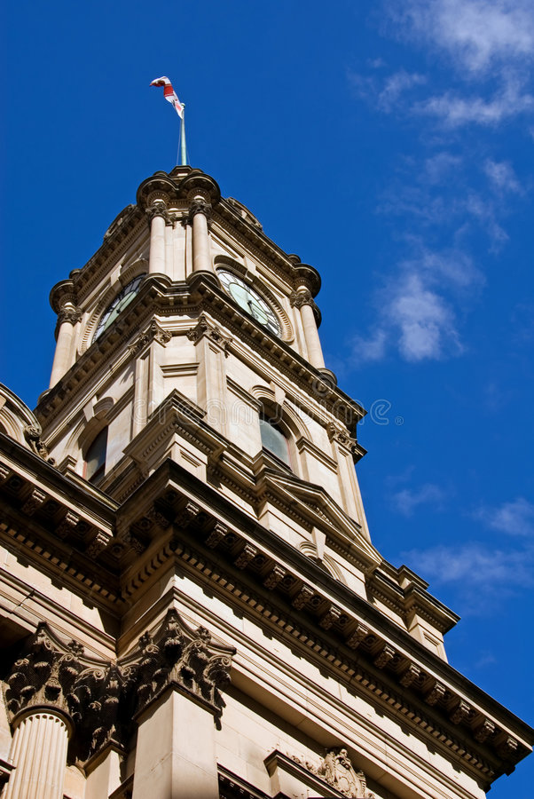 Ayuntamiento Melbourne fotografía de archivo libre de regalías